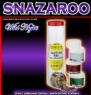 SNAZAROO GLITTER GEL TUBE B GREEN, RED, STAR DUST, GOLD
